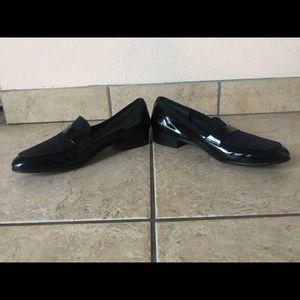Salvatore Ferragamo Black Patent Leather Loafer